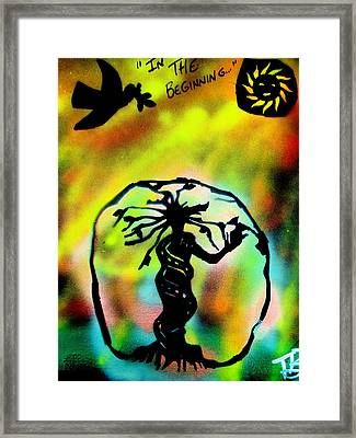 In The Beginning Framed Print by Tony B Conscious