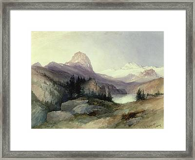 In The Bighorn Mountains Framed Print by Thomas Moran