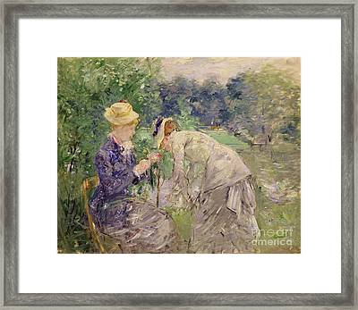 In The Bois De Boulogne Framed Print