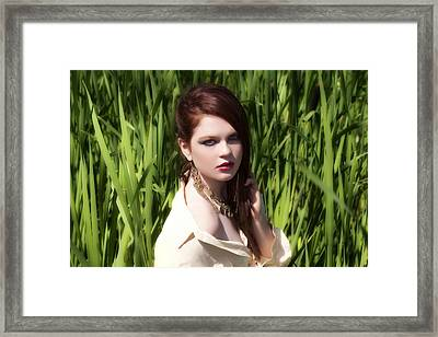 In The Bullrushes Framed Print by Waywardimages Waywardimages