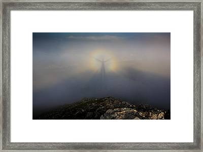 In The Center Of The Rainbow Framed Print