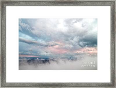 Framed Print featuring the photograph In The Clouds by Jeannette Hunt
