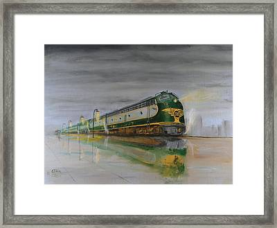 In The Cold Mist Framed Print by Christopher Jenkins