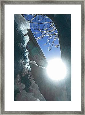 Framed Print featuring the photograph In The Cold Of The Sun by Steve Taylor