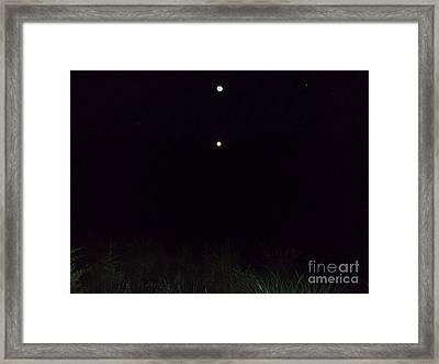 In The Company Of The Moon Framed Print by Doug Kean