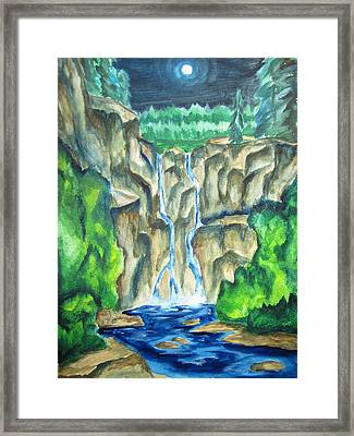 In The Coolness Of Night Framed Print by Cheryl Pettigrew