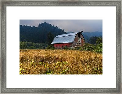 In The Country Framed Print by Debra and Dave Vanderlaan