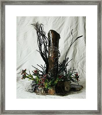In The Ditch Framed Print by Mariann Taubensee