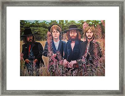 In The Field The Beatles Framed Print by Sandra Ragan
