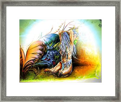 In The Garden Framed Print by Adam Vance