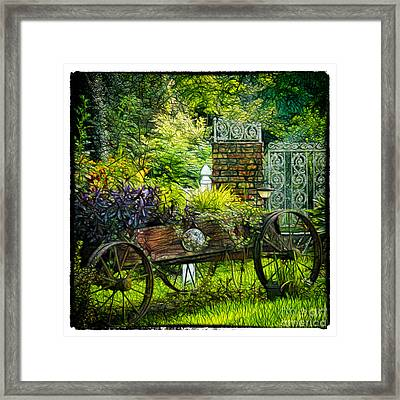 In The Garden Framed Print by Judi Bagwell