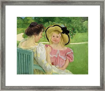 In The Garden Framed Print by Mary Stevenson Cassatt