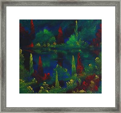 In The Garden Of Kubla Khan Framed Print by David Snider