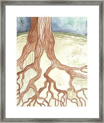 In The Ground Beneath Framed Print by Annette Janelle Provenzo