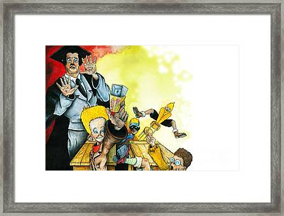 In The Hands Of Rascals Framed Print by Spencer Bower
