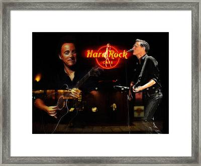 In The Hard Rock Cafe Framed Print by Steve K