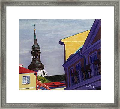 In The Heart Of Tallinn Framed Print
