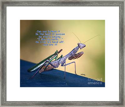 In The Heat Of Passion-2 Framed Print