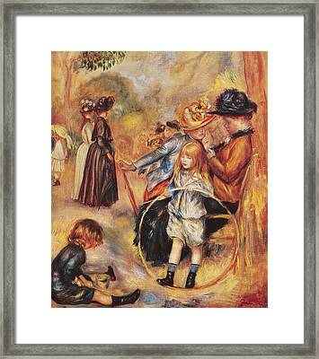 In The Luxembourg Gardens Framed Print by Pierre Auguste Renoir