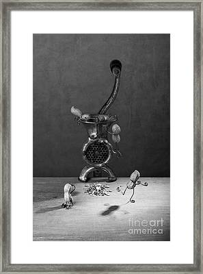 In The Meat Grinder 02 Framed Print by Nailia Schwarz