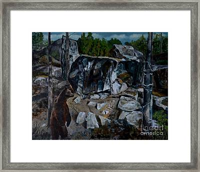 In The Midst Of Woods Framed Print by Jukka Nopsanen