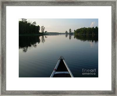 In The Old Canoe Framed Print
