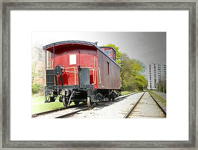 In The Old Days Framed Print
