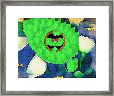 In The Pond Pop Art Framed Print
