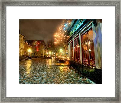 In The Rain Framed Print by Andre Faubert
