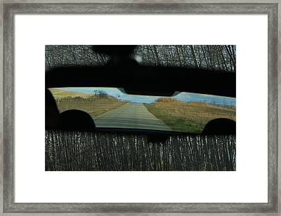 In The Rear View Framed Print