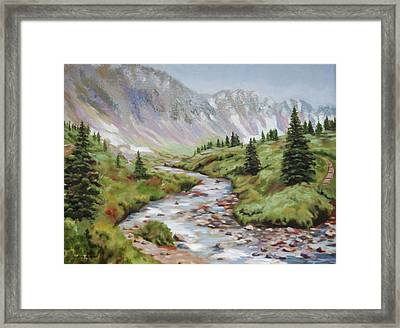 In The Rockies Framed Print
