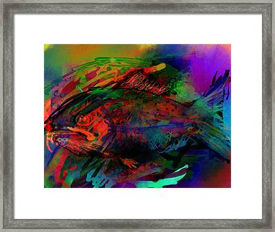 In The Sea Are Many Fishie Framed Print