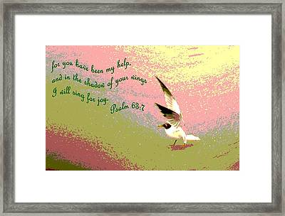 In The Shadow Of Your Wings Framed Print by Pamela Hyde Wilson