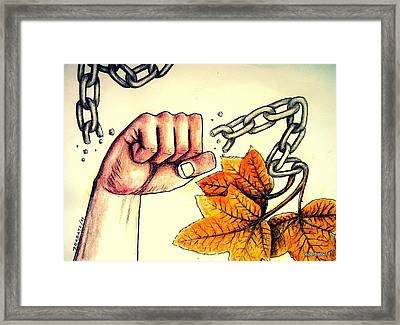 In The Silence Of Falling Leaves Framed Print by Paulo Zerbato