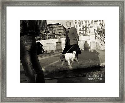 In The Street Framed Print by Odon Czintos