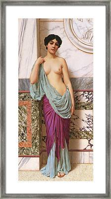 In The Tepidarium Framed Print by John William Godward