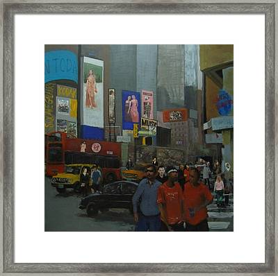 In The Time Square  Framed Print by Rahman Shakir
