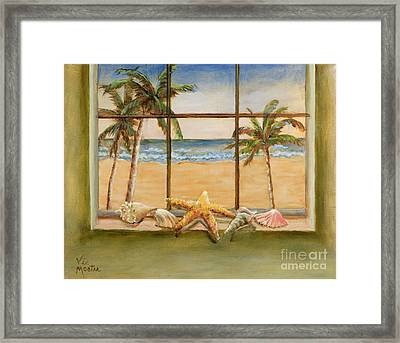 Framed Print featuring the painting In The Tropics by Vic  Mastis