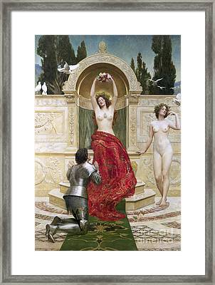 In The Venusburg Framed Print by John Collier