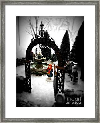 Framed Print featuring the photograph In The Village by Nancy Dole McGuigan