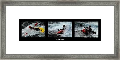 In The Zone With Caption Framed Print by Bob Christopher