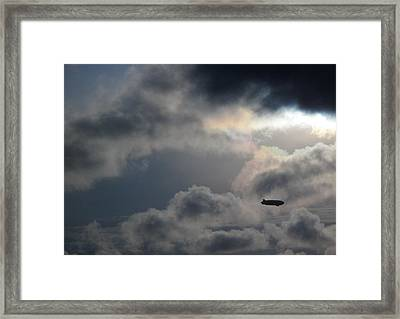In To The Storm Framed Print by Luis Esteves