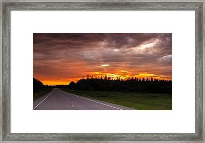 In To The Sunset Framed Print