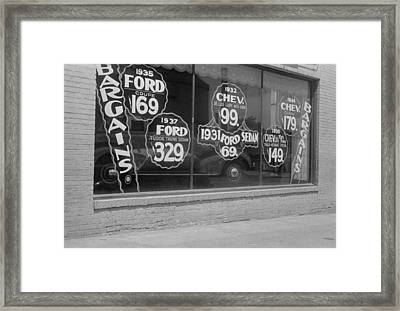 In Washington, D.c. A Used Automobile Framed Print by Everett