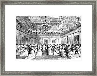 Inaugural Ball, 1869 Framed Print by Granger