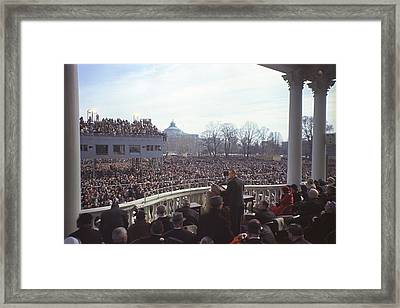 Inauguration Of Lyndon Johnson Framed Print by Everett