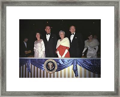 Inauguration Of Lyndon Johnson. Lady Framed Print by Everett