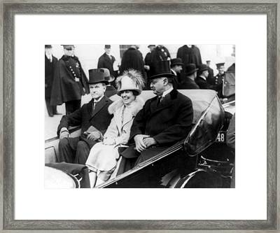 Inauguration Of President Calvin Coolidge - C 1925 Framed Print by International  Images