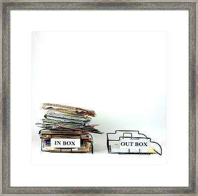 Inbox And Outbox Framed Print by Photo Researchers, Inc.