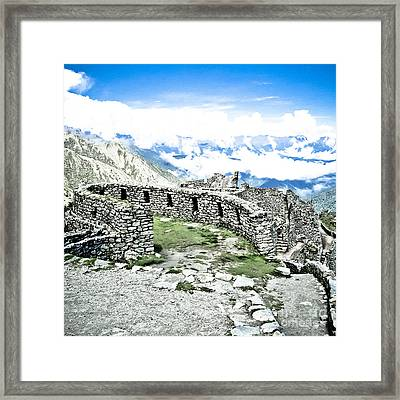 Inca Observatory Ruins Framed Print by Darcy Michaelchuk